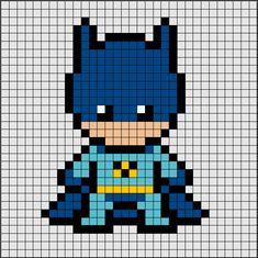 Patrons of Hama Beads of Batman [pixel art] Pearler Bead Patterns, Perler Patterns, Batman Pixel Art, Perler Bead Art, Perler Beads, Hama Beads Disney, Pixel Art Super Heros, Pixel Art Minecraft, Minecraft Pixel Art