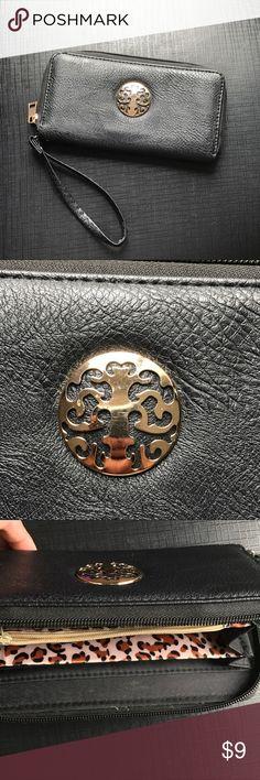 Black wallet Black wallet with a black & cheetah print inside Bags Wallets