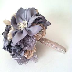 Fabric Flower Bouquet brooch bouquet wedding by goodgirlsstudio