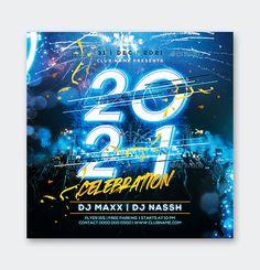 2021 New Year Flyer Design Template PSD