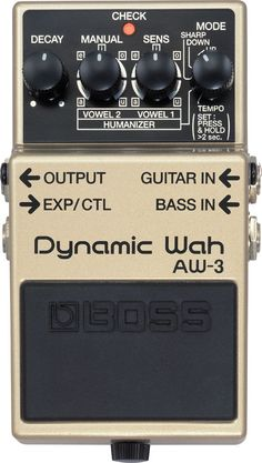 BOSS AW-3 Dynamic Wah pedal Looking for a pedal to give you a wide range of wah and filter sounds? Look no further than the BOSS AW-3 Dynamic Wah! Not only does this pedal do classic auto and dynamic