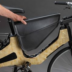 From the creator of the Beacon Alley Skateboard comes the Bamboost e-Bike with the same high-performance, woven bamboo sandwich core construction. Introduced as a pedal-assist bike, Wooden Bicycle, Wood Bike, Velo Design, Bicycle Design, Road Bike Women, Bike Style, Cool Inventions, Bike Accessories, Transportation Design