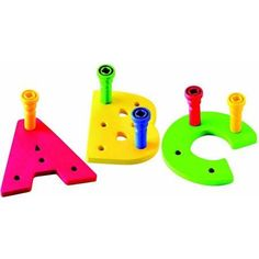 Lauri Toys Tall-Stacker A to Z Uppercase Pegboards