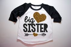 Big Sister Shirt Little Sister Shirt Kid's by HauteBelliesShop