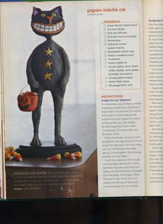 Papier Mache Cat (Holiday Crafts 2007 magazine)