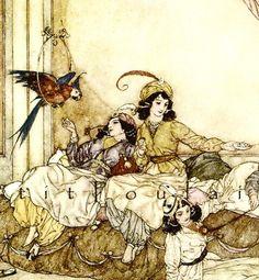 Edmund Dulac and Blue Beard 1983 Fairy Tale Lithographs