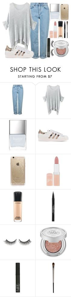 """Summer"" by lipsy-look ❤ liked on Polyvore featuring Topshop, Butter London, adidas Originals, Rifle Paper Co, Rimmel, MAC Cosmetics, Trish McEvoy, Rimini, Urban Decay and NARS Cosmetics"