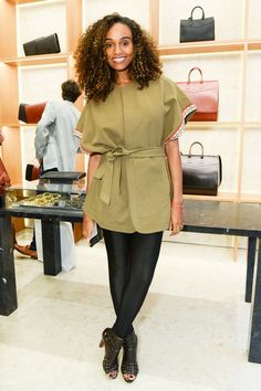 We love that model Gelila Bekele's top is a transitional piece that could go to any event. #refinery29 http://www.refinery29.com/new-york-city-party-style#slide-9