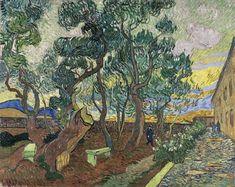 Van Gogh, il giardino dell'ospedale Saint-Paul, novembre 1889. Olio su tela, 75 x 93.5 cm. Museum Folkwang, Essen.