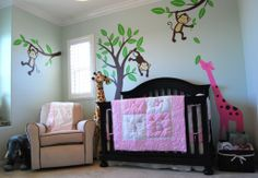 possible room design-love the trees and monkies :)