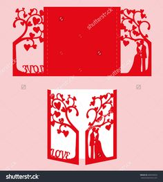 stock-vector-wedding-invitation-with-bride-and-groom-and-tree-paper-lace-envelope-template-wedding-invitation-489439033.jpg (1434×1600)