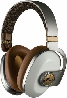 BLUE Satellite Premium Noise-Cancelling Wireless Headphones with Built-In Audiophile Amp White Audiophile Headphones, Wireless Noise Cancelling Headphones, Bluetooth Headphones, Headset, White Headphones, Headphones With Microphone, Over Ear Headphones, Blue Microphones, Headphone Amp
