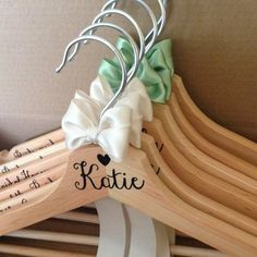 Items similar to UK seller: Wedding Coathanger for bride and bridesmaids on Etsy White Ribbon, Brides And Bridesmaids, Special Day, Getting Married, Daisy, Groom, My Etsy Shop, Etsy Seller, Bows