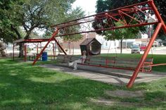 27. NEBRASKA // WORLD'S LARGEST PORCH SWING --  Location: Hebron, Nebraska.  In the tiny town of Hebron, you can have a meal with up to 18 adults or 24 children on what the is billed as the World's Largest Porch Swing. While the swing is in a public park rather than on a porch, it's a fun spot to swing away the afternoon. But with a swing that large, you might need to ask a local for a push.