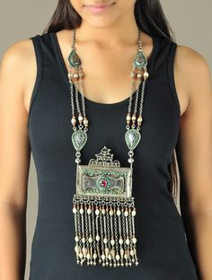 Tribal Royalty Afghani Statement Necklace