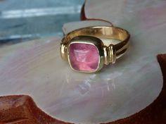 Pink Tourmaline Gem Stone Ring from Maine