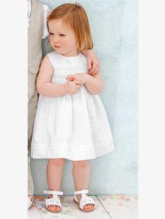 Festliches Kleid mit Tupfen - WEIß - 2