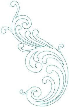 Design #4, bean (5-pass) - machine embroidery design - great for combining