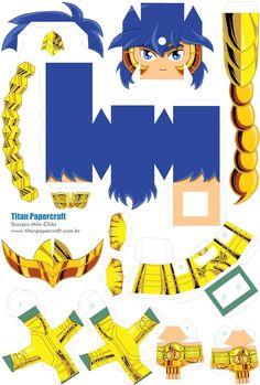 Monte E Colecione Papercraft De Seus Personagens Preferidos