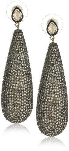 Red Carpet Shery Shabani Diamond Teardrop Earrings on shopstyle.com