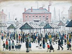 Market Scene, Northern Town, 1939 - LS Lowry
