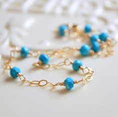 NEW Real Turquoise Anklet Gold Filled Ankle by livjewellery https://www.etsy.com/listing/218615321/new-real-turquoise-anklet-gold-filled?ref=shop_home_active_1