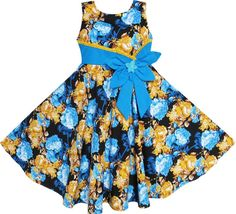 Find More Dresses Information about Girls Dress Bohemia Gold Blue Bow Tie Everyday Summer Clothes Kids 6 12,High Quality clothes girl,China kids polo clothes Suppliers, Cheap kids snow boots uk from Sunny Fashion Boutique on Aliexpress.com