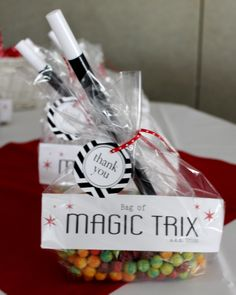 Magic Birthday Party: Favors-magic wand and Trix cereal. Printables by TomKat Studio and A Lemon Squeezy Home