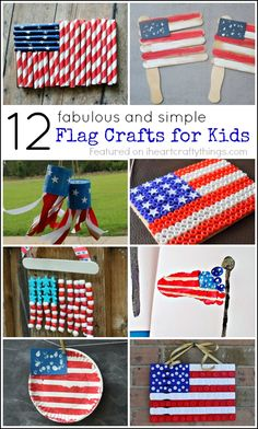 12 Fabulous American Flag Crafts for Kids. Fun patriotic kids crafts for the Fourth of July.