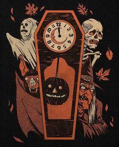 Retro Halloween, Spooky Halloween, Halloween Kunst, Halloween Artwork, Spooky Scary, Happy Halloween, Creepy, Vintage Halloween Images, Halloween Pictures