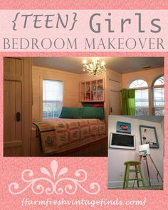 Teen Girls Dream Bedroom Reveal - Farm Fresh Vintage Finds
