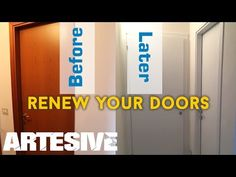 In this tutorial, we stop in applying adhesive film to an interior door. The video shows the concept and the most important passages to get a good result eve. Leroy Merlin, Chalk Paint, Interior Design, Interior Door, Bar Chart, Decoupage, Shabby Chic, Doors, House Styles