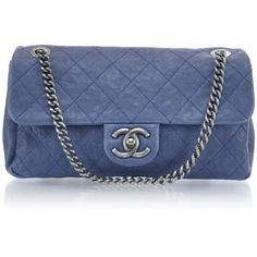 CHANEL Caviar Quilted Small Simply CC Flap Blue found on Polyvore
