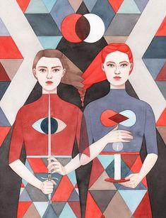 Monica Garwood, Game of Thrones. La templanza de las mujeres en las ilustraciones de Monica Garwood.