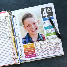 The easiest way to organize school papers {school memory binder printables}