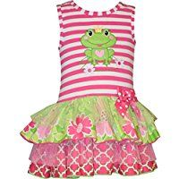 Bonnie Jean Toddler Girl Princess Frog Tiered Dress (2t-4t)