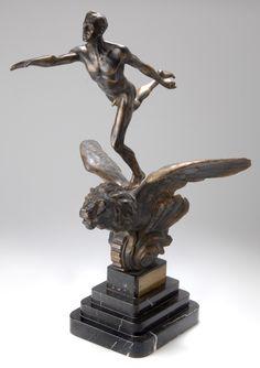 RUNNERS, C. 1935, bronze figural trophy commemorating the International Film Congress in Berlin 1935