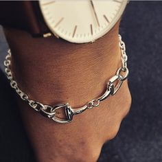 """""""Horse Bit solid bracelet $245 for all you horse lovers out there happy Australia Day from Silver Wolf Kawana #unleashyourwolf #silverwolf #horsebit…"""""""