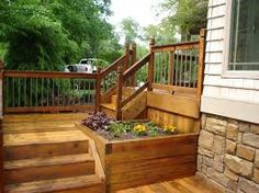 Built in Flower Bed decks - Google Search