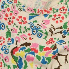 http://www.littlefashiongallery.com  ...mina-perhonen-girl-paradis-cotton-and-hemp-printed-dress-e11-multicoloured