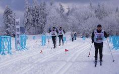 Cross country skiing in the Beskids - Magurka Mountain, Wilkowice, near Bielsko-Biala, Poland