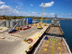 Built between 1948 and the deep water port at Mtwara is 1 of 3 major ports managed by Tanzania Ports Authority. Recent improvements at Mtwara port has made it possible for big container ships to berth there. Industry Images, Deep Water, Tanzania, Africa, Container, Ships, Big, Building, Beautiful