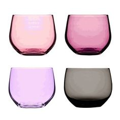 Purple Spectra tumblers set of 4 glasses by Sagaform - designer glassware Home Design, Swedish Brands, Home And Deco, Kitchenaid, Brand You, Dot And Bo, Just In Case, Home Accessories, Modern Furniture