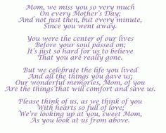 I Miss You Mom Poems From Daughter | Pinned by Jaime Smith