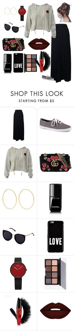 RED by louiishots on Polyvore featuring moda, Sans Souci, Chanel, Keds, Gucci, Kenneth Jay Lane, Givenchy and Forever 21