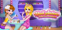 #Girls #Games Help beautiful #princess with #nail #makeover in your own nail #salon with different #glitters & colors