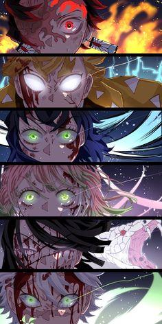 Demon Slayer Kimetsu No Yaiba Zenitsu Manga Anime, Anime Amor, Anime Eyes, Otaku Anime, Manga Art, Demon Slayer, Slayer Anime, Demon Hunter, Estilo Anime
