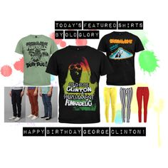 Today's Featured Shirts by Old Glory... in honor of George Clinton's birthday!