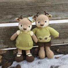 Little Cotton Rabbits Animal Knitting Patterns, Stuffed Animal Patterns, Doll Patterns, Knit Or Crochet, Crochet Toys, Handmade Stuffed Animals, Little Cotton Rabbits, Knitted Animals, Sewing Toys