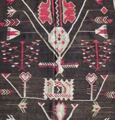 For Sale on - Like many Bessarabian kilims, this runner shows a synthesis of local folk motifs and designs inspired by century French carpets popular at the Russian Rugs On Carpet, Carpets, Kilim Runner, Runes, 18th Century, Bohemian Rug, Folk, Textiles, Kids Rugs